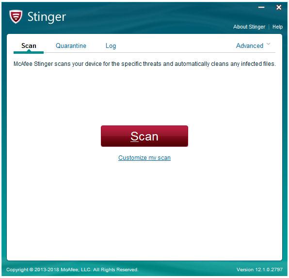 McAfee AVERT Stinger(杀毒软件) V12.1.0.2797 32位 绿色版