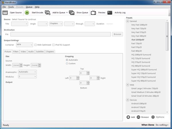 HandBrake(视频转换工具)V1.1.1 官方版