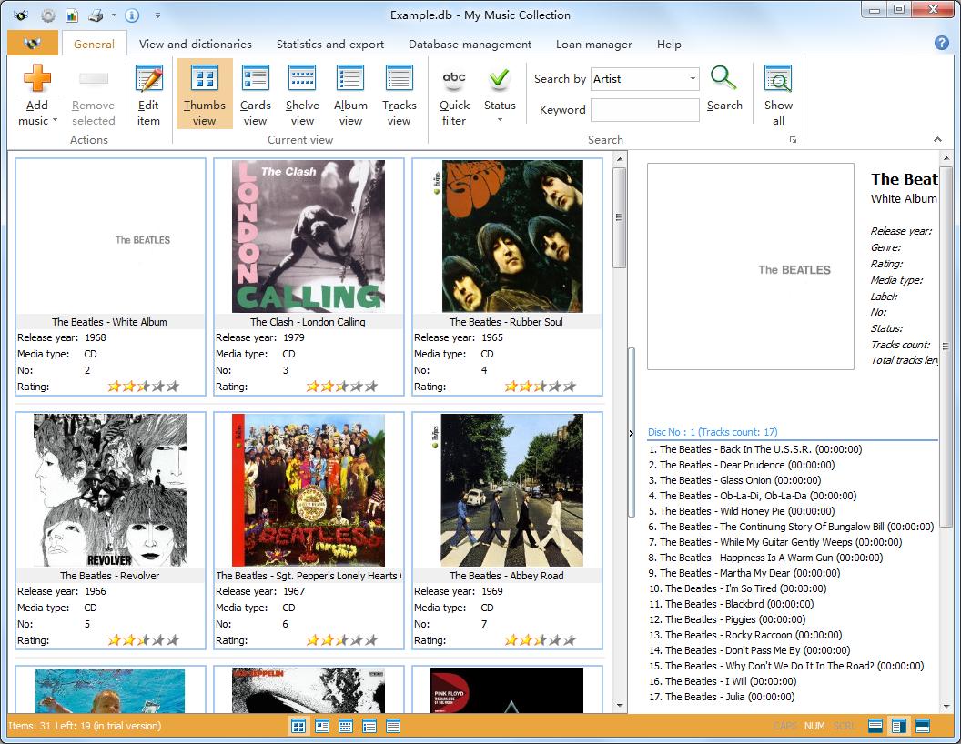 My Music Collection(音乐文件管理软件) V1.0.3.46官方版