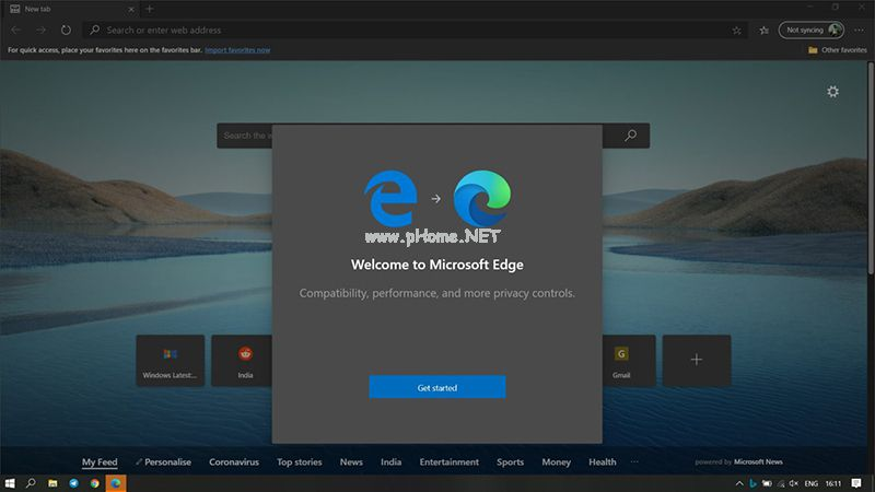 Win10 2020年5月更新一同推出微软新版Edge